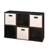 Cubo Storage Set - 6 Cubes and 3 Canvas Bins- Truffle/Natural
