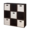Cubo Storage Set - 9 Cubes and 5 Canvas Bins- Truffle/Natural