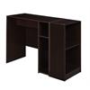 Mod Desk with 2 shelf Bookcase - Truffle