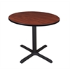 "Cain 36"" Round Breakroom Table- Cherry"