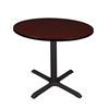 "Cain 36"" Round Breakroom Table- Mahogany"