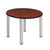 "Kee 42"" Round Breakroom Table- Cherry/ Chrome"
