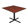 "Cain 48"" Square Breakroom Table- Cherry"