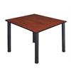"Kee 48"" Square Breakroom Table- Cherry/ Black"
