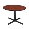 "Cain 48"" Round Breakroom Table- Cherry"