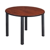 "Kee 48"" Round Breakroom Table- Cherry/ Black"