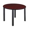 """Kee 48"""" Round Breakroom Table- Mahogany/ Black"""
