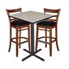 "30"" Square Café Table- Maple & 2 Zoe Café Stools- Cherry/Black"