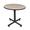 "Kobe 36"" Round Breakroom Table- Beige"