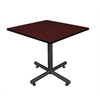 "Kobe 42"" Square Breakroom Table- Mahogany"
