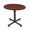 "Kobe 42"" Round Breakroom Table- Cherry"