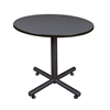 "Kobe 42"" Round Breakroom Table- Grey"