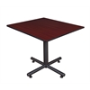 "Kobe 48"" Square Breakroom Table- Mahogany"