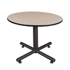 "Kobe 48"" Round Breakroom Table- Beige"
