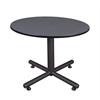 """Kobe 48"""" Round Breakroom Table- Grey"""