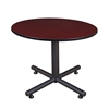 "Kobe 48"" Round Breakroom Table- Mahogany"