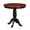 "Mod 30"" Round Pedestal Table- Cherry/Black"
