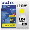 Brother LC105Y Innobella Super High-Yield Ink, Yellow