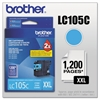 Brother LC105C Innobella Super High-Yield Ink, Cyan