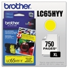 Brother LC65HYY Innobella High-Yield Ink, Yellow