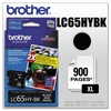 Brother LC65HYBK Innobella High-Yield Ink, Black