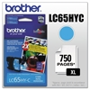 Brother LC65HYC Innobella High-Yield Ink, Cyan
