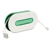 WrapID Cord Wrap w/ID Insert, Holds up to 6ft of Cord, Emerald