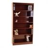 "Contemporary 84""H wood veneer bookcase, Medium Cherry"