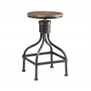 LOCKER COLLECTION Swivel Stool, Black/Grey