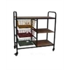Urban Collection Kitchen Trolley, Black/Grey