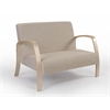 DANISH COLLECTION 2 Seat Sofa, Natural/Beige