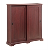 Sliding door multimedia stand, Cherry
