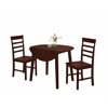 HARRISON Dining Ht Table with Two Chairs, Antique Oak