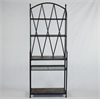 WINDSOR Bookcase w/ Baskets, Black Metal/Slate And Weave