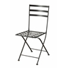 Black metal chair (2pk), Black Metal