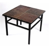Slate End Table, Black Metal/ Slate