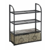 WINDSOR Storage Towel/Wine Rack W 2 baskets, Black Metal/Slate And Weave