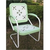 Metal Chair Retro, Lime And White Metal