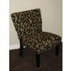 Oversize Accent Chair, Brown Flock