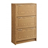 Deluxe Triple Shoe Cabinet, Fruitwood