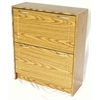Deluxe Double Shoe Cabinet, Fruitwood