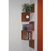 Hanging Corner Storage, Fruitwood