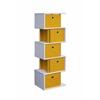 Zig Zag Storage Drawer - Yellow, Pink