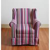 Girls Wingback Chair -Striped, Multi Colored Stripes