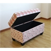 Storage Bench/Plaid and Floral, Plaid And Floral