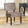 Sabrina Accent Chair, Animal Print. Espresso Legs