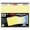 WIDE Landscape Format Writing Pad, College Ruled, 11 x 9 1/2, Canary, 75 Sheets