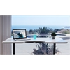 """Standing Desk with Electric Adjustble Height 28 - 46 inches, Black Frame - Oak Ergo Table Top size 53"""" x 30"""""""