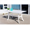 Bradley Outdoor Wood Rectangular Dining Table with Curvy Legs