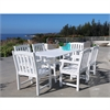Bradley Rectangular and Curved Leg Table & Arm ChairOutdoor Wood Dining Set 7